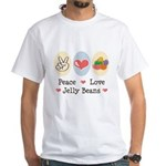 Peace Love Jelly Beans White T-Shirt