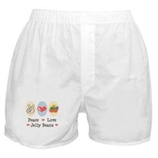 Peace Love Jelly Beans Boxer Shorts