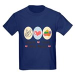 Peace Love Jelly Beans Kids Dark T-Shirt