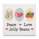 Peace Love Jelly Beans Tile Coaster