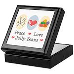 Peace Love Jelly Beans Keepsake Box