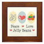Peace Love Jelly Beans Framed Tile
