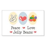 Peace Love Jelly Beans Rectangle Sticker 50 pk)
