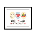 Peace Love Jelly Beans Framed Panel Print