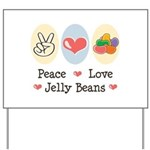 Peace Love Jelly Beans Yard Sign