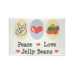 Peace Love Jelly Beans Rectangle Magnet (10 pack)