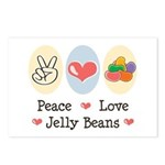 Peace Love Jelly Beans Postcards (Package of 8)