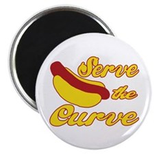 "Serve the Curve 2.25"" Magnet (10 pack)"