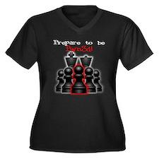 Chess Pwn3d! Women's Plus Size V-Neck Dark T-Shirt