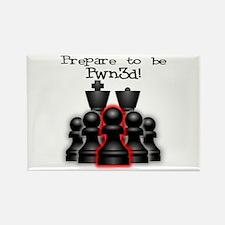 Chess Pwn3d! Rectangle Magnet