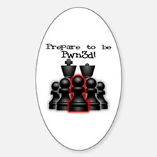 Chess Pwn3d! Oval Decal