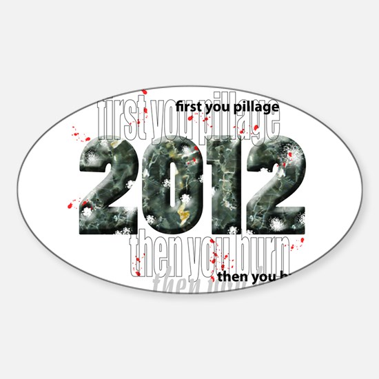 2012 T Shirts Oval Decal