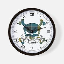 Laing Tartan Skull Wall Clock
