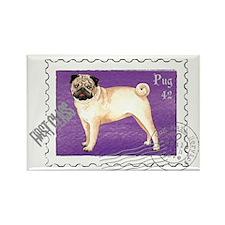 Pug Stamp Rectangle Magnet