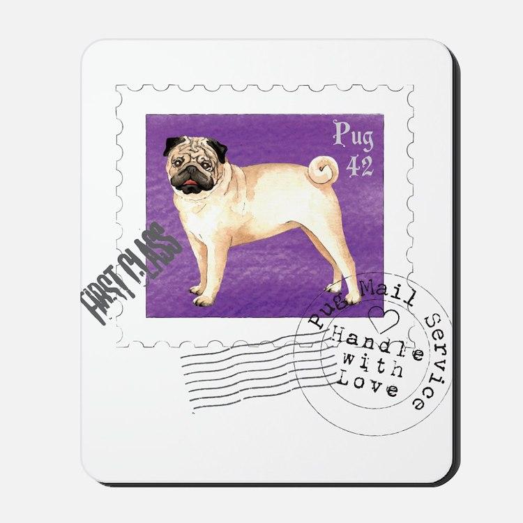 Pug Stamp Mousepad