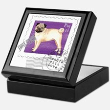 Pug Stamp Keepsake Box