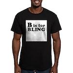 B is for BLING ~ Men's Fitted T-Shirt (dark)