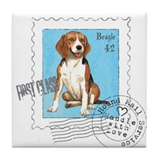 Beagle Stamp Tile Coaster