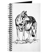 Wolf on Rocks Sketch Journal