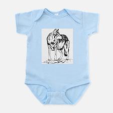 Wolf on Rocks Sketch Infant Bodysuit