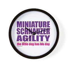 Miniature Schnauzer Agility Wall Clock