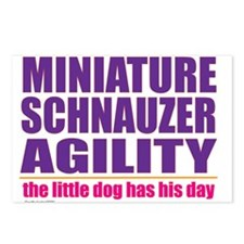 Miniature Schnauzer Agility Postcards (Package of