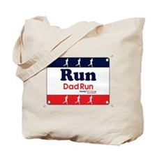 Race Bib Run Dad Tote Bag