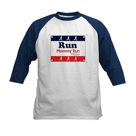 Race Bib Run Mommy Kids Baseball Jersey