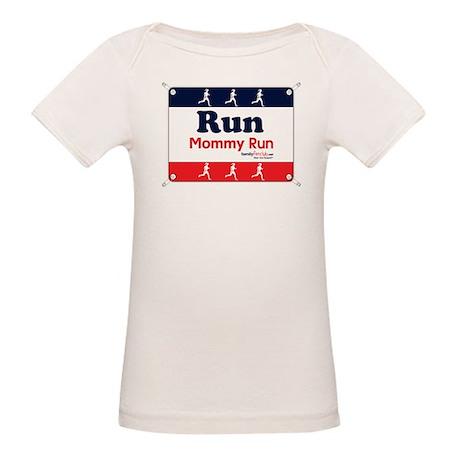 Race Bib Run Mommy Organic Baby T-Shirt