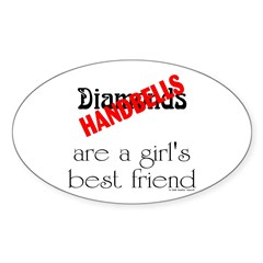 Girl's Best Friend Sticker (Oval 10 pk)