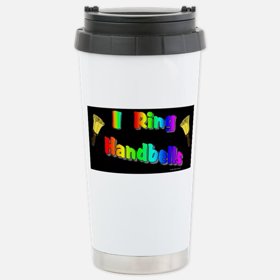 I Ring Handbells Black Stainless Steel Travel Mug