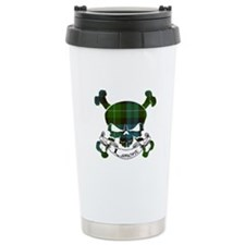 Lamont Tartan Skull Travel Mug