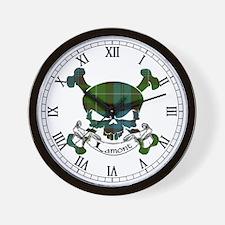 Lamont Tartan Skull Wall Clock