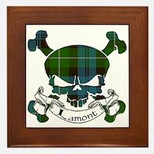 Lamont Tartan Skull Framed Tile