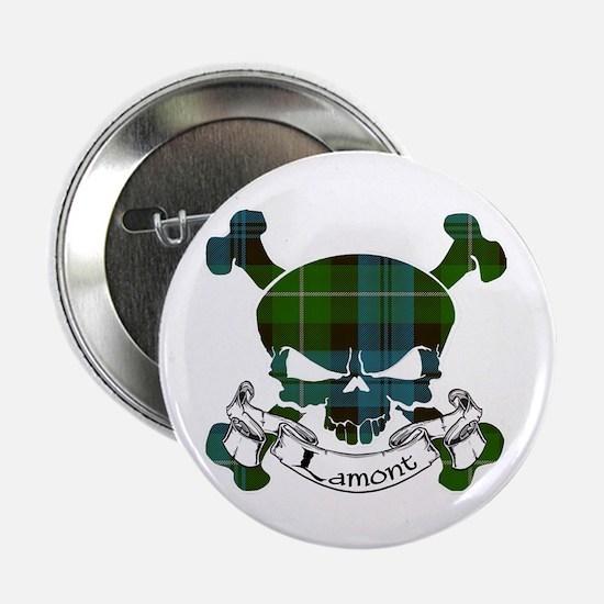 """Lamont Tartan Skull 2.25"""" Button"""