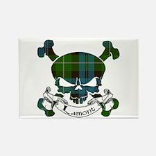 Lamont Tartan Skull Rectangle Magnet