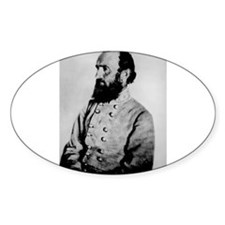 Gen Stonewall Jackson Oval Decal