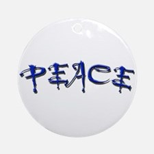 Blue peace Ornament (Round)