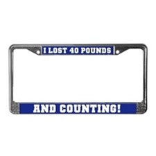 40 Pounds Lost License Plate Frame