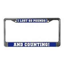 60 Pounds Lost License Plate Frame