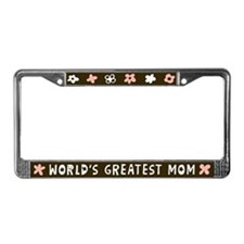 World's Greatest Mom License Plate Frame