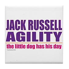 Jack Russell Agility Tile Coaster