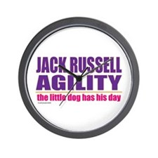 Jack Russell Agility Wall Clock