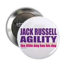 """Jack Russell Agility 2.25"""" Button"""