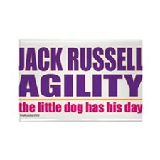 Jack Russell Agility Rectangle Magnet