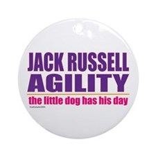 Jack Russell Agility Ornament (Round)