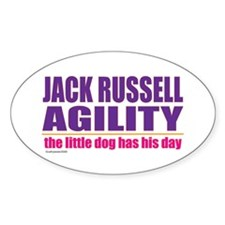 Jack Russell Agility Oval Decal