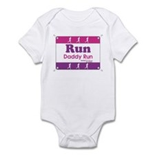 Race Bib Run Daddy Infant Bodysuit