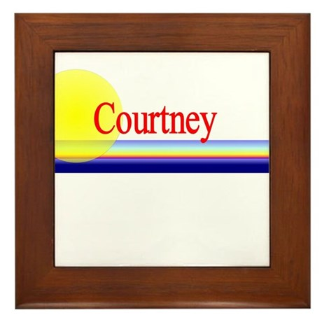 Courtney Framed Tile