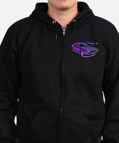 Dodge Challenger Purple Car Zip Hoodie